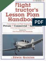 Flight Instructors Lesson Plan Handbook Edwin Quinlan