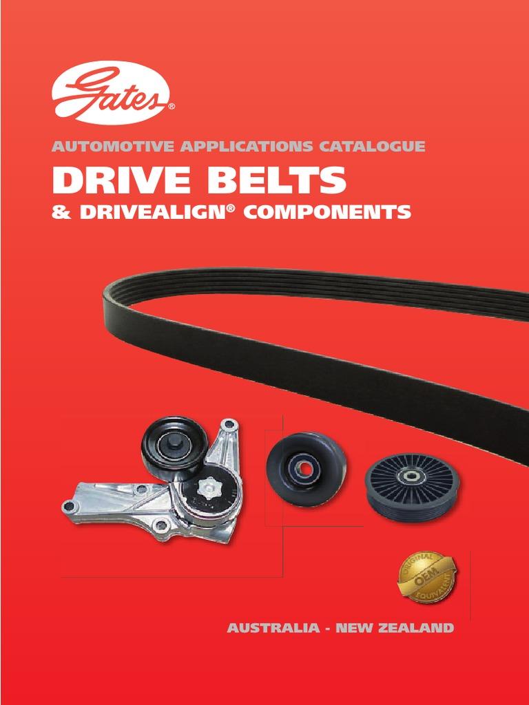 Gates Belts Pdf Belt Mechanical Wear