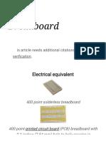 Breadboard - Wikipedia