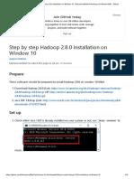 Install Hadoop-2.6.0 on Windows10