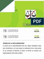 Diapositiva La Antijuridicidad