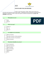 Questionnaire for Job Seekers Final Version