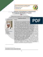 Implementation of Participatory Communication Development - Published