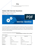 The Best Adobe CQ5 Interview Questions [UPDATED] 2019