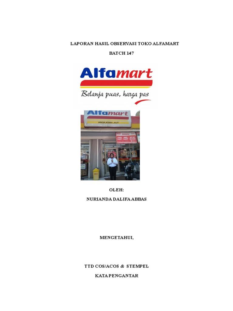 Laporan Hasil Observasi Toko Alfamart Docx