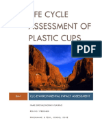 Life Cycle Assessment of Plastic Cups