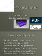 Network Troubleshooting and Field Server