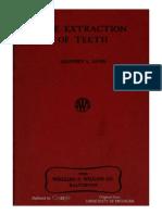 Geoffrey l Howe Extraction of Teeth