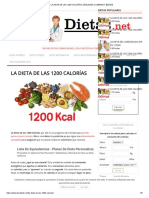 La Dieta de Las 1200 Calorías ¡Adelgaza Comiendo!【2019】