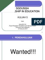 SGDU5024 Kuliah 5