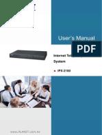 Planet Internet Telephony Pbx System Ipx-2100 v1.0