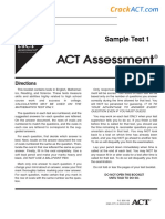 ACT Sample Test 1-www.crackact.com.pdf