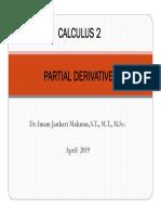 Chapter 13 Partial Derivatives 2019
