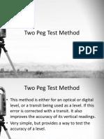 Two Peg Test Method