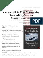 Recording Studio Equipment List_ the Essential 33 Items