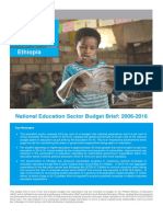 UNICEF Ethiopia -- 2017 -- Education Budget Brief