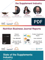 State of the Supplement Industry 2018