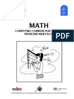 Math 6 DLP 49 Computing Common Percentage Problems Mentally