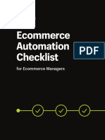 Ecommerce Automation Checklist for Ecommerce Managers