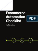 Ecommerce Automation Checklist for Marketers