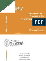 Exposición Psicopatología - Trastornos de La Comunicación y Trastorno Del Espectro Autista