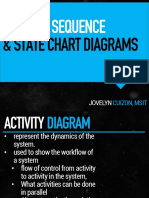 Activity Sequence and Statechart Diagrams