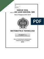 Soal Penjajakan 1 - SMK Sleman MTK Teknik