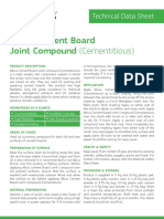 TDS Altius Cement Board Joint Compound Cementitious