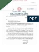 Bar Council of India Legal Education (First Amendment) Rules 2016