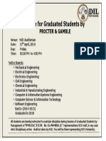Session for Graduated Students With Procter & Gamble on 12th April, 2019