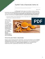 saudecuriosa.com.br-Limonada com Açafrão trata a Depressão melhor do que Prozac
