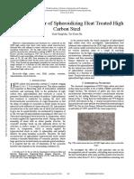 Tensile Behavior of Spheroidizing Heat Treated High Carbon Steel