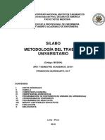 Silabo MTU 2018 I Dra Arcaya