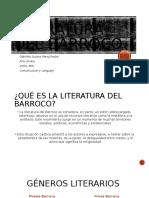 Literatura Del Barroco