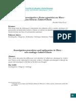 FORTES, Ronaldo; Procedimento Investigativo e Forma Expositiva Em Marx - Duas Leituras, Lukács-Chasin. Verinotio (Belo Horizonte), V. 9, p. 73-105, 2009