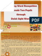 Improving Word Recognition through Dolch Sight Words