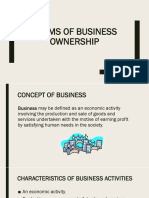 CpEN 106 6 Forms of Business Ownership