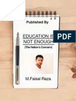 EDUCATION IS NOT ENOUGH (The Nation's Concern)