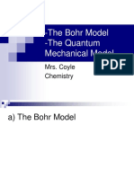 The Bohr Model and the Quantum Mechanical Model