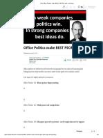(16) Office Politics Make BEST PEOPLE Quit. _ LinkedIn