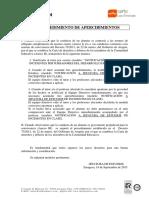Procedimiento Apercibimientos 18-9-2015