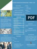 Folder Negocios Internacionais IV 2019
