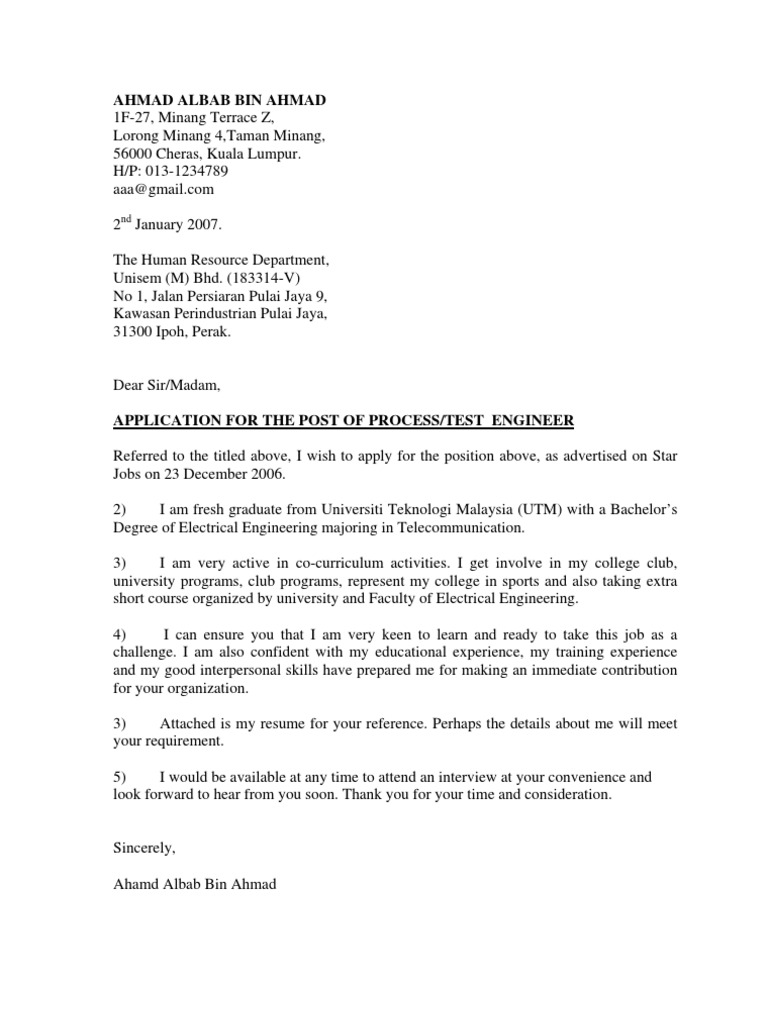 contoh cover letter template contoh cover letter