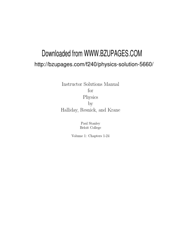 New fundalmentals physics complete solution by halliday resnick and krane sol_solv1 longitude trigonometric functions