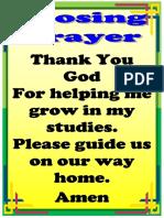 Opening and Closing Prayer
