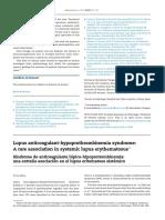 Case Lupus Anticoagulant hypoprothombinemia