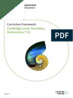 1112 Lower Secondary Mathematics Curriculum Framework 2018