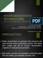 Water Desalination Technologies O&G