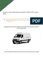 Guia de cajas de fusibles de Mercedes-Benz Sprinter