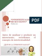 Ppt Tercero Interxtualidad y Microcuentos